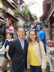 EuroSLA president Danijela Trenkic with the president of the Japanese sister organisation J-SLA, Shigenori Wakabayashi